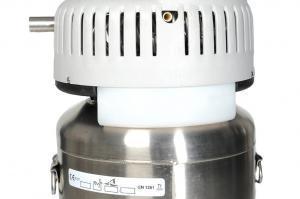 Detailansicht des Auffangbehälters für Kondenswasser. Easymate reservoir