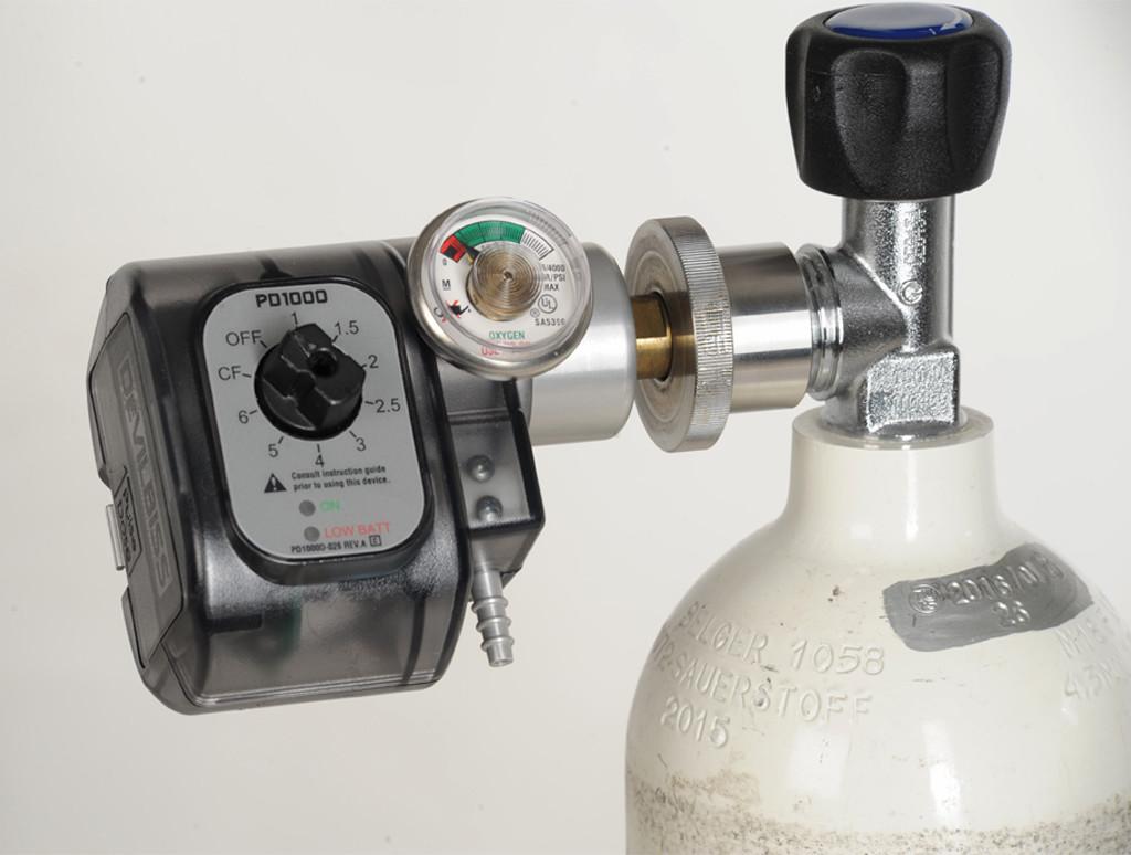PD 1000 an einer Sauerstoffflasche