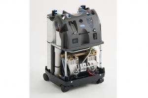 Detailbild des stationären Sauerstoffkonzentrators Perfecto2 welcher kein Gehäuse hat und man ins Innere schauen kann