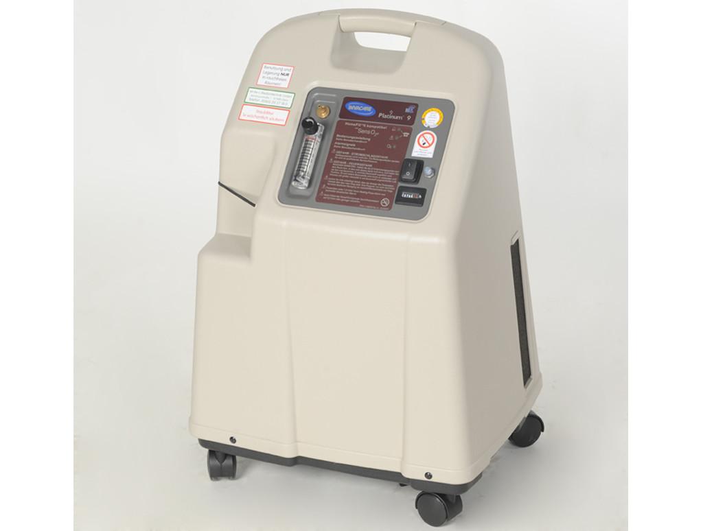 Detailproduktbild des stationären Sauerstoffkonzentrators Platinum 9