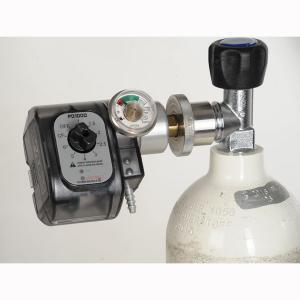 Das Sparsystem PD1000 auf einer Sauerstoffflasche