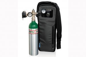 Sauerstoffflasche mit Tragetasche zur Abfüllung durch UltraFill