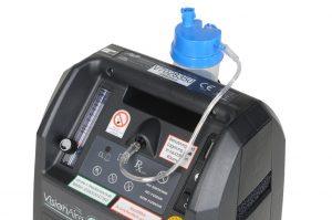Detailbild der Sauerstoffanfeuchtung am stationären Sauerstoffkonzentrator VisionAire 3