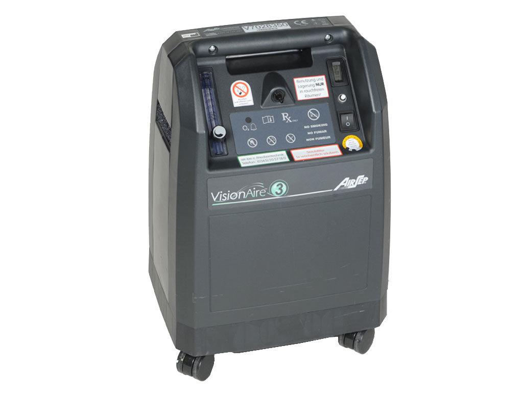 Detailbild des stationären Sauerstoffkonzentrators VisionAire 3 ohne Zubehör
