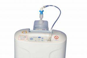 Anschluss des Atemgasbefeuchter am Inogen at Home